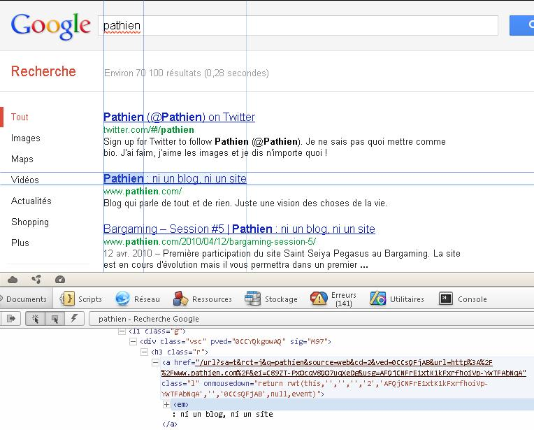 Requete HTTP Pathien Google Not Provided